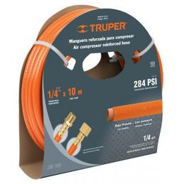 """Manguera para compresor de Alta Presion de PVC 1/4"""" Conector Movil 5 m, MAN-PI-5-1/4 19013 Truper"""