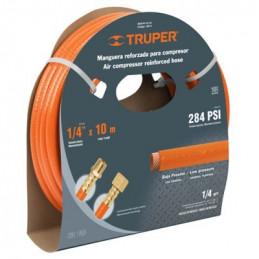 """Manguera para compresor de Alta Presion de PVC 1/4"""" Conector Movil 10 m, MAN-PI-10-1/4 19014 Truper"""