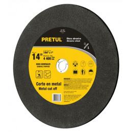"Disco Abrasivo Corte Metal UG 14"" Tipo 1 Centro 1"" 2.8mm RPM4400 Chop Saw, Oxido de Alumino, ABT-7589 22561 Truper"