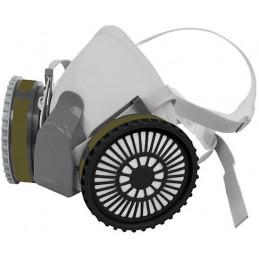 Respirador Profesional con Cartuchos Incluido Multi-Gas Media Cara, Banda Elastica, KIT-RES-MU 13730 Truper