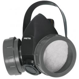 Respirador 2 Filtros Sin Cartuchos incluye Valvula de Exhalacion, Bandas Elasticas Ajustable, RES-2-P 23391 Pretul