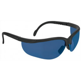 Lentes de Seguridad Vision Azul, 100% Policarbonato con UV Antirayadura, LEDE-SZ 14303 Truper