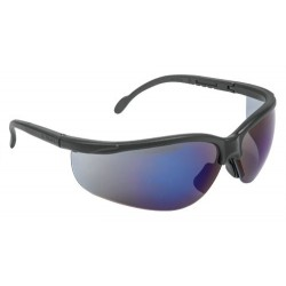Lentes de Seguridad Vision Espejo Azul, 100% Policarbonato con UV Antirayadura, LEDE-EZ 10826 Truper