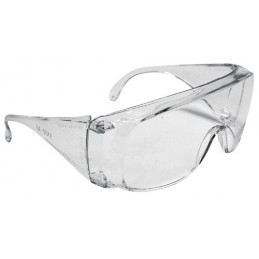 Lentes de Seguridad Tradicional Transparente, 100% Policarbonato con UV Antirayadura, LEN-ST 14252 Truper