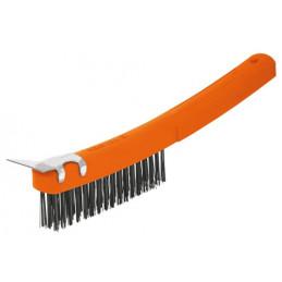 Cepillo con Cerdas de Acero al Carbono 51 Pinceles, Calibre 0.35mm Con Espatula, L 29.5cm A 2.7cm, CEA-18E 11539 Truper