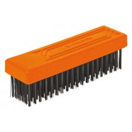Cepillo con Cerdas de Acero al Carbono 114 Pinceles, Calibre 0.35mm, L 17cm A 4.9cm, CEA-36 11556 Truper