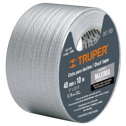 Cinta Ducte Tape 10m Ancho 48mm Espesor 0.19mm, Elongacion 10%, Resistente a Temperaturas, CDU-10X 12586 Truper