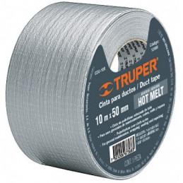Cinta Ducte Tape 30m Ancho 48mm Espesor 0.19mm, Elongacion 10%, Resistente a Temperaturas, CDU-30X 12587 Truper