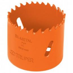 """Sierra de copa Bimetalicas 2 1/8"""" o 53.9mm, dientes de acero alta velocidad, Para metal y Madera, COBI-2-1/8 18098 Truper"""