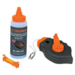 Tiralinea Plastico 30m, con repuesto y nivel, bobinado rapido, Incluye Bote de Gis, TL-50 18574 Truper