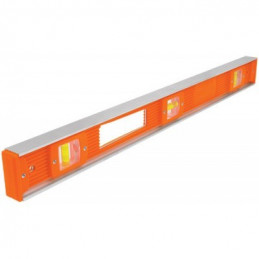 """Nivel Profesional 48"""", Cuerpo de aluminio tipo vigueta, Proteccion ABS, Gotas Intercambiables, NP-48 17040 Truper"""