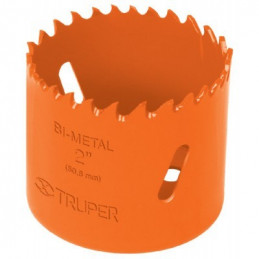 """Sierra de copa Bimetalicas 2 1/4"""" o 57.1mm, dientes de acero alta velocidad, Para metal y Madera, COBI-2-1/4 18099 Truper"""