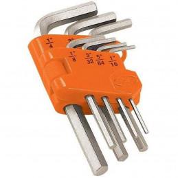 Juego Llaves Allen 7 Piezas Milimetricas con Organizador, Acero al Cromo Vanadio Satinado, ALL-7M 15530 Truper