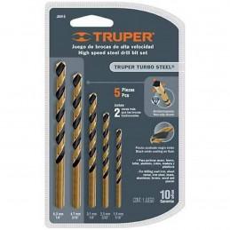 Juego de 5 Brocas para metal de Alta Velocidad Turbo Steel, JBAV-5 11394 Truper