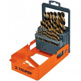 Juego de 29 Brocas para metal de Alta Velocidad Turbo Steel, DESP-BAV-29C 50004 Truper