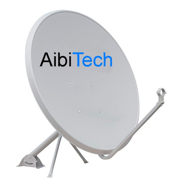 Antena Parabolica Satelital Banda KU AibiTech 90 x 99 cm con LNBF Full HD, para Ses4 Eutelsat113 Galaxy28 Venesat y Otros