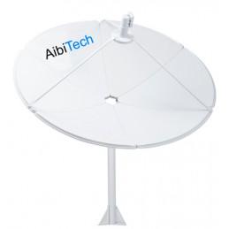 Antena Parabolica Satelital Banda C AibiTech 240 cm con LNBF HD, para Amazon starOneC1/2/3 Eutelsat117 Intelsat34 y otros