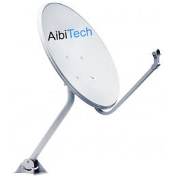 Antena Parabolica Satelital 60x65cm Full HD, con LNBF HD, Diseño 2017, Para Satelite Amazon Tupac Katari Hispasat SES4 y Otros
