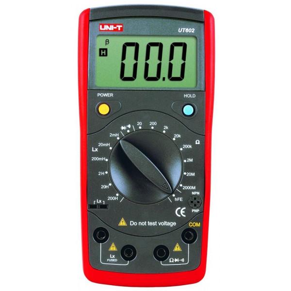 Medidor Digital LCR UNI-T UT-602, Resistencia 2000MΩ Inductancia Capacitancia Continuidad Diodo Transistor
