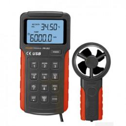 Anemometro Digital Prasek PR-362 Premium, Medicion de Velocidad de viento 2m/s a 30m/s, Contador CMM CFM