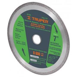 """Disco Diamantado continuos Acabado Fino 4"""" Centro 7/8"""", 1.7mm, Abrasivo 5.7mm, DDT-802C 11578 Truper"""