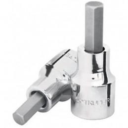 """Dados de Punta Hexagonal Milimetrico 8 mm, Encastre 1/2"""", L Punta 21 mm, L Total 48 mm, D-5441-8M 13282 Truper"""