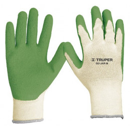 Guantes para Jardinero cubierto de latex puño tejido Talla M, GU-JAR-M 15266 Truper