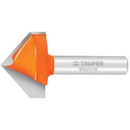 "Fresa Corte en V 3/8"" 9.52 mm Largo de Corte 12.7 mm, BROU-V3/8 11465 Truper"