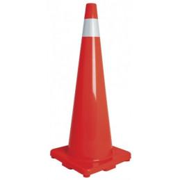 Conos de Precaucion 90 cm con Reflejante 10 cm de PVC, Resistente a Impactos, Peso 3.65 kg, CONO-90R 13127 Truper