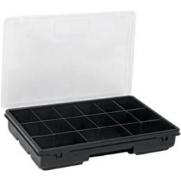 "Organizador reforzado de Plastico 11"", 15 Compartimientos, Largo 11"", Ancho 7"", Alto 1 3/4"", ORG-15 19896 Truper"