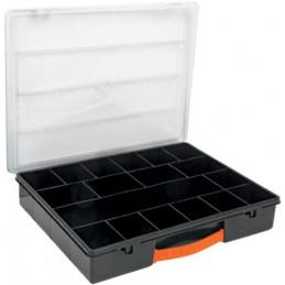 "Organizador reforzado de Plastico 14"", 18 Compartimientos, Largo 14"", Ancho 11"", Alto 2 1/2"", ORG-18 11825 Truper"