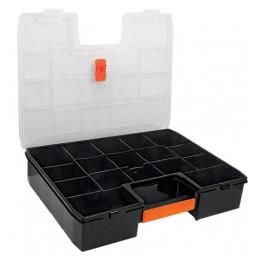 "Organizador reforzado de Plastico 17"", 17 Compartimientos, Largo 17"", Ancho 12 1/2"", Alto 3 1/2"", ORG-17X 19939 Truper"