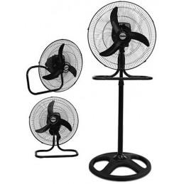 """Ventilador 3 en 1, 18"""" de diametro, 80w 3 Velocidades, Oscilación hasta 90, Altura MAX 1.25mts, REC-CLVNE100 RECORD"""