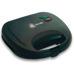 Sandwichera Electrica, planchas con doble revestimiento antiadherente con termostato automatico, Negro, REC-CLSNE101 RECORD