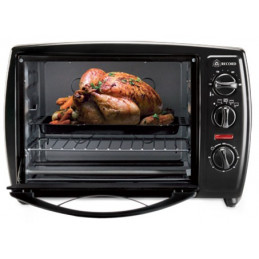 Horno Electrico Capacidad 18 Litros, en acero inoxidable, 3 Perillas de Control, Color Negro, REC-INHEAC100 RECORD