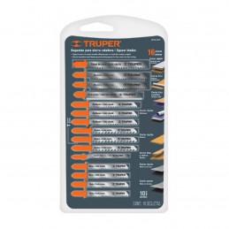Juego de 16 Seguetas, Zanco T, para cortes en metales plastico y aluminio, JSCA-16-T 16705 Truper