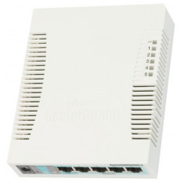 Router RouterBoard Mikrotik RB260GS, Switch Gigabit 5 puertos 10/100/1000, 1 SFP Port con POE
