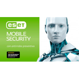 Antivirus ESET Mobile Security, para dispositivos moviles Android, MPI Card, Licencia 1 año