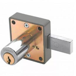Cerradura para mueble cromo modelo 25, accion horizontal, Cilindro 36mm 2 llaves, CM-25C 43559 Hermex