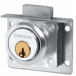Cerradura para mueble Cromo modelo 24, accion vertical, CM-24C 43557 Hermex