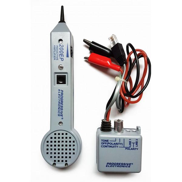 Buscador de Cable Wire Tracker RJ11 Inductive Amplifier identificador de tono Telefonico, 200EP Progressive Electronic