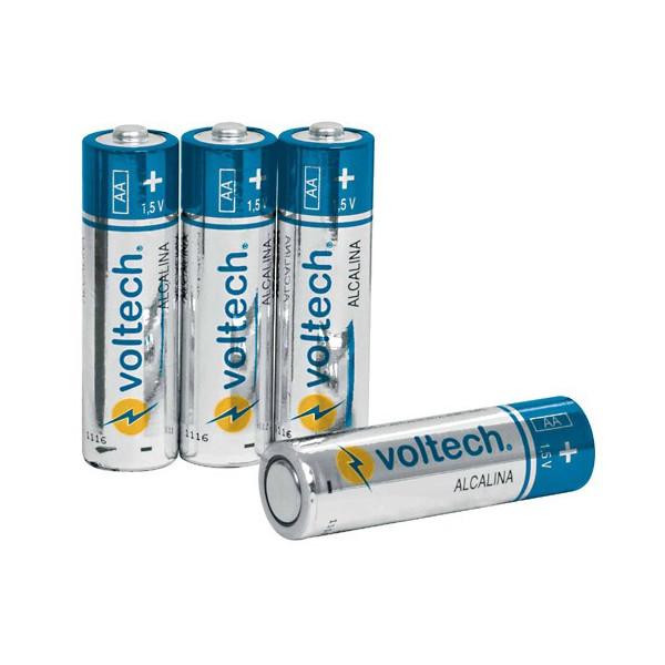 Pila Alcalina Tamaño AA, alto rendimiento blister de 4 unidades, AL-AA 46315 Voltech