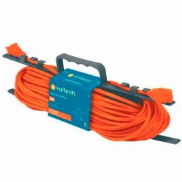 Extension Electrica 30 Metros para 3 enchufes, uso rudo calibre 16 recubrimiento 8.3mm, ER-30X16 48051 Voltech