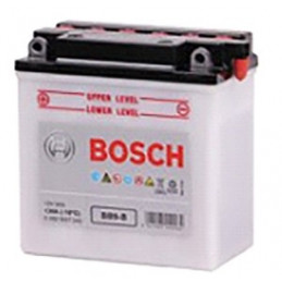 Bateria para Moto Bosch BB9-B de Placas 9AH Con Tapas Polos + - RC min. CCA 130 L 135mm AN 75mm AL 139mm