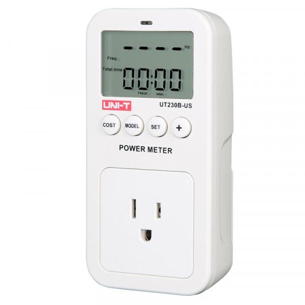 Medidor de Corriente Consumo Energía Electrica UT-230B-US, con Monitor LCD, Autovoltaje Hasta 15A
