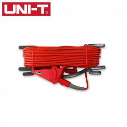 Cable De Prueba con pinza de cocodrilo 20 Metros Color Rojo para Telurometro UT-521 UT522, UT-L59A UNI-T