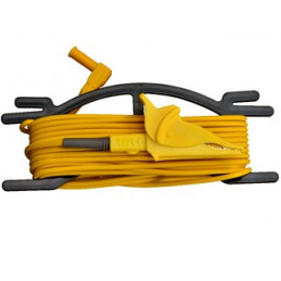 Cable De Prueba con pinza de cocodrilo 10 Metros Color Amarillo para Telurometro UT-521 UT522, UT-L58A UNI-T