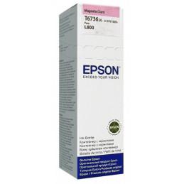 Botella de Tinta Epson 673 T673620, magenta claro, para impresora L800