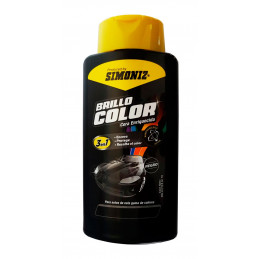 Cera Liquida Brillo Color Negra 500ml, 3 en 1 Encera Protege y Resalta el color, 7702155408078 SIMONIZ
