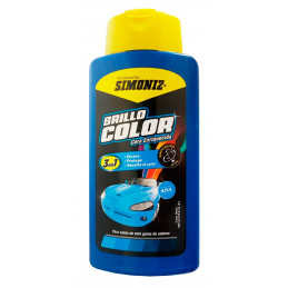 Cera Liquida Brillo Color Azul 500ml, 3 en 1 Encera Protege y Resalta el color, 7702155408023 SIMONIZ